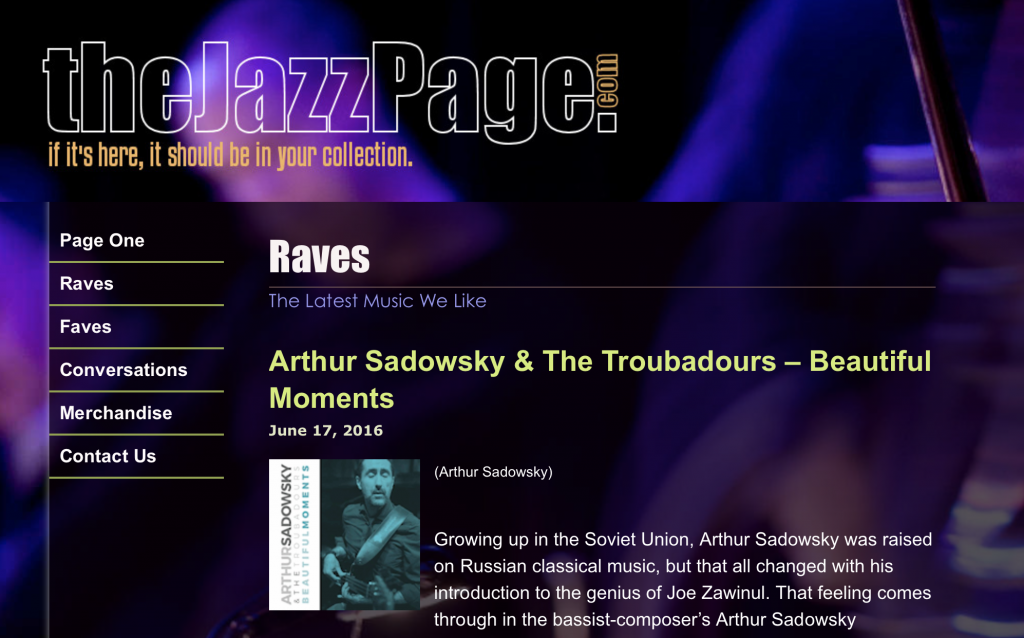THEJAZZPAGE.COM CD REVIEW